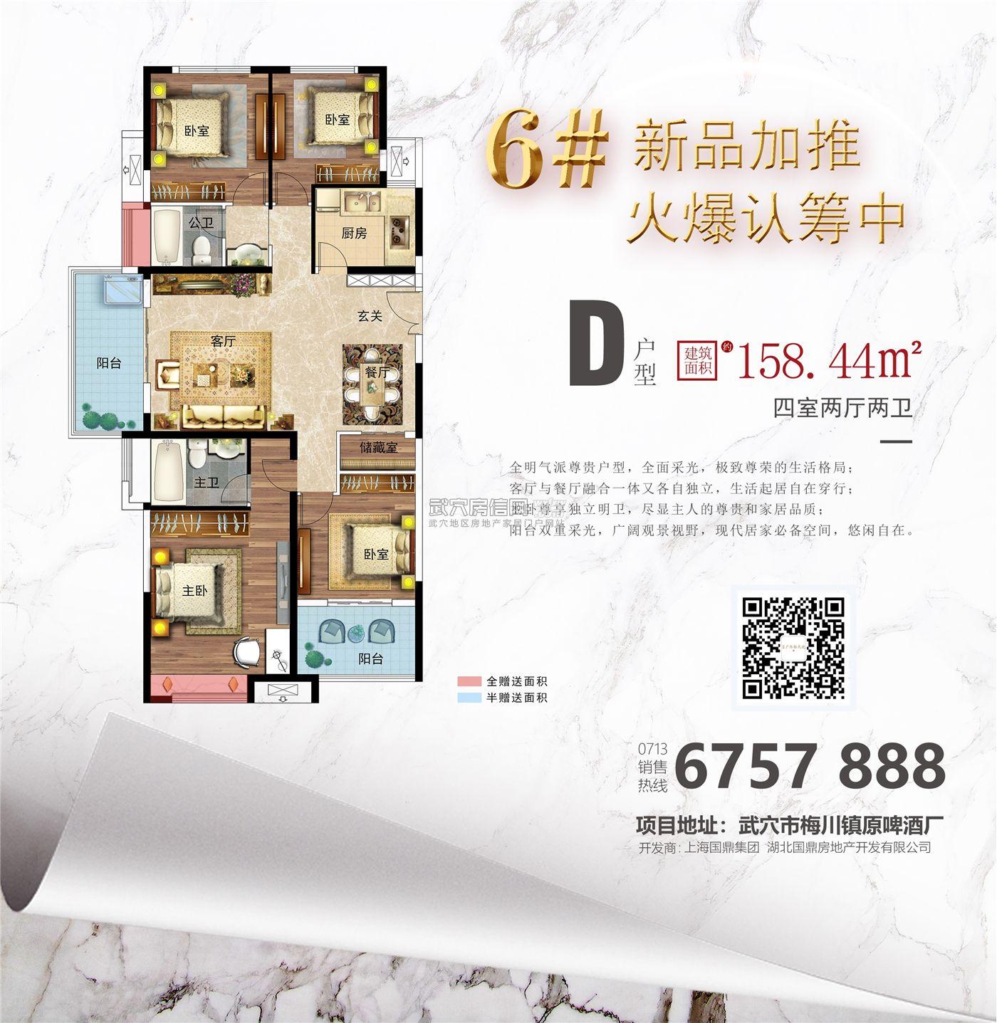 国鼎·广济新天地-6#楼D户型户型