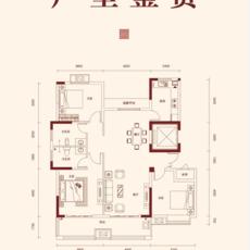 徽城·金色家園A1戶型戶型圖