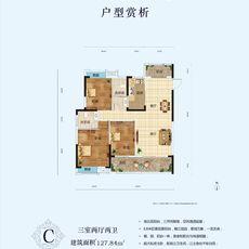景江豪庭2#楼户型C户型图