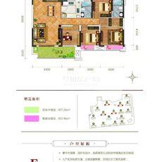 升华·鑫龙翡翠城F户型户型图