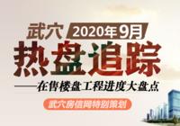 2020年9月武穴在售楼盘工程进度汇总