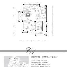 欣海·世纪城3#C1户型户型图