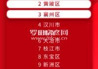 湖北县域经济最新排名公布,罗田排三类县市!