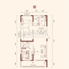 徽城·金色家園C1戶型戶型圖