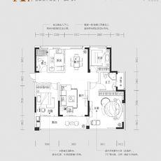 紫金大院A1 127㎡户型图