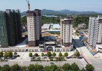 义水星城9月工程进度:1#外立面刷漆完成20%