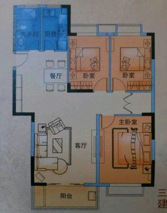 万豪郦晶园证,满五唯一,三房两厅