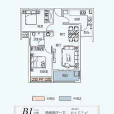 卓达·书香名苑B1 81.07户型图