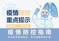 【徽城·金色家园】温馨提示您,疫情防控不可松懈!