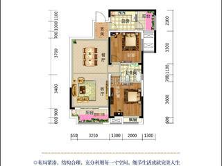 滨河国际E4户型图