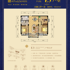 福苓家园E3户型户型图