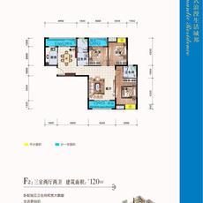 阳光尚城F2:三室两厅两卫户型图