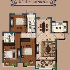 上海花园F-1户型户型图