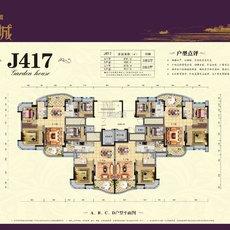 碧桂园·江湾城J417户型图