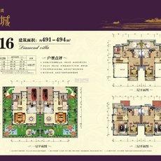 碧桂园·江湾城G216双拼钻石墅户型图