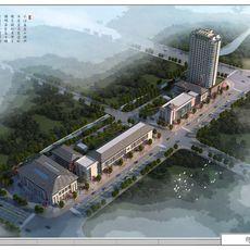 大江文化广场鸟瞰图
