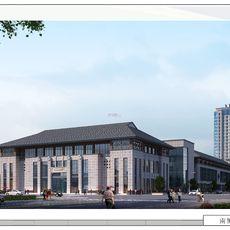 大江文化广场透视图
