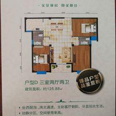 林语佳苑户型D 125.88户型图