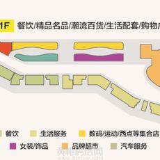 廈安夢想城購物公園1樓業態分布圖戶型圖