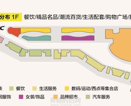 厦安梦想城购物公园1楼业态分布图