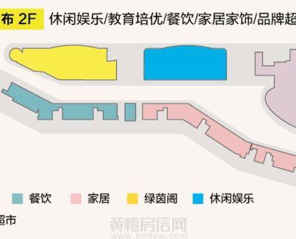 厦安梦想城购物公园2楼业态分布图