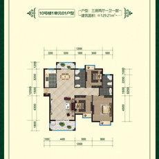 清華苑10號樓1單元01戶型戶型圖