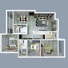 文城公寓D5户型户型图