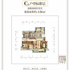 万景·楚园C2户型标准层户型图