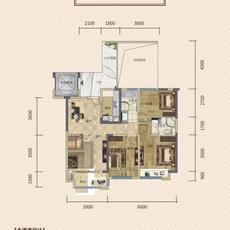 华丽一品5号楼B户型户型图