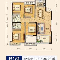 申丰金色家园B1/9户型户型图