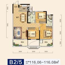 申丰金色家园B2/5 户型户型图