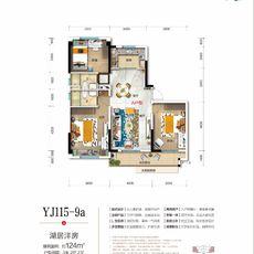 碧桂園·御瀾灣YJ115-9aA戶型(124㎡)戶型圖