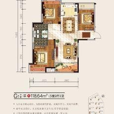 盛世華城G1戶型戶型圖
