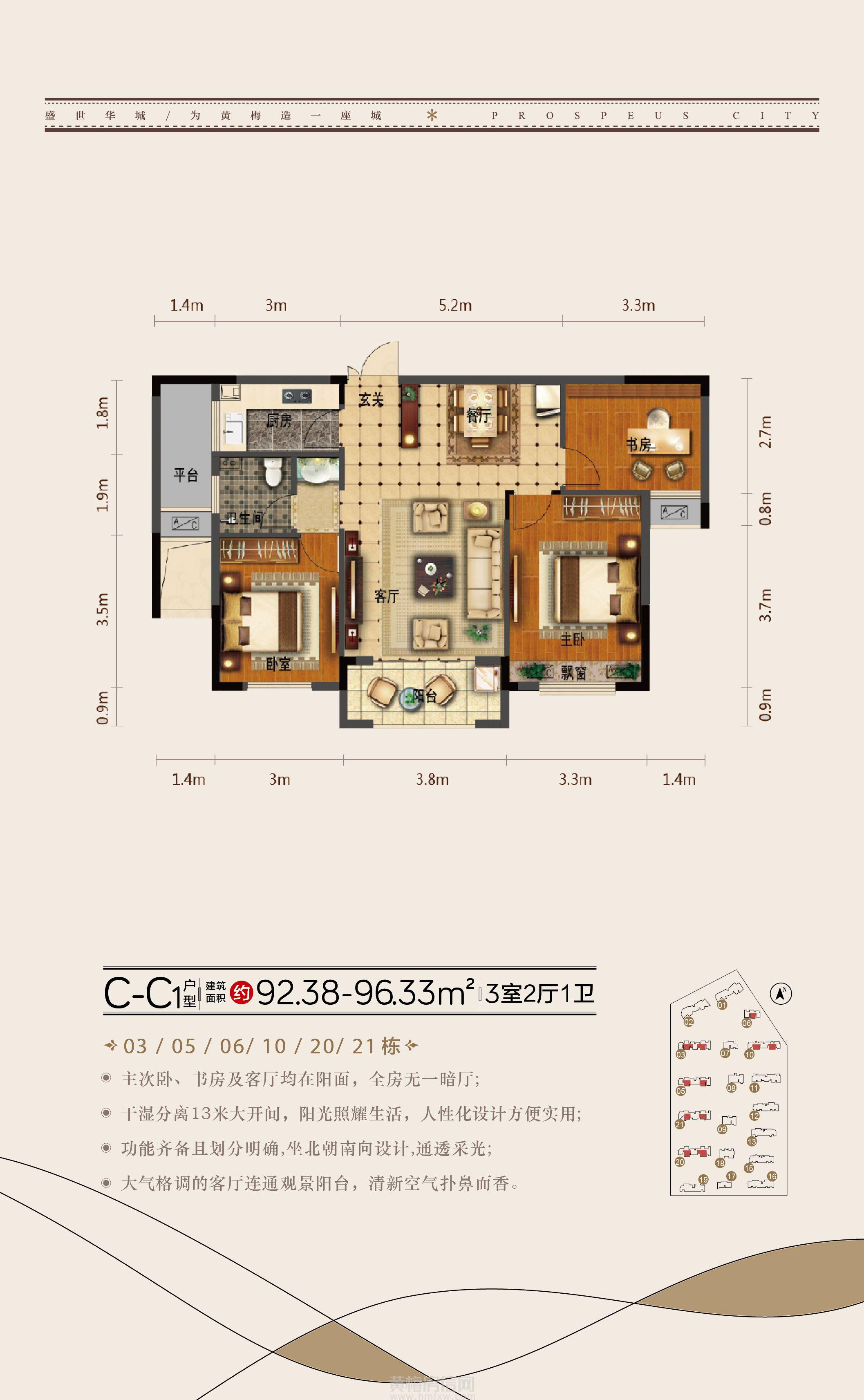 盛世华城-C—C1户型户型