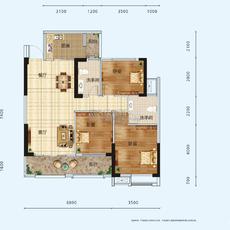景江豪庭3#楼户型B户型图