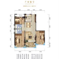 华中国际时尚城E户型户型图