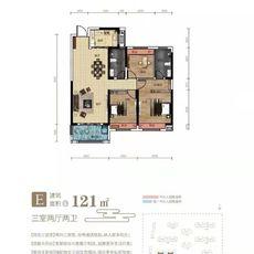 九坤·新城首府E户型户型图