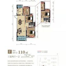九坤·新城首府F户型户型图