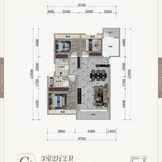 晋梅九坤·学府城--C1户型