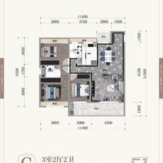 晋梅九坤·学府城--C户型