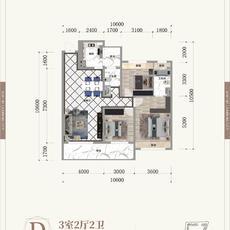晋梅九坤·学府城--D户型