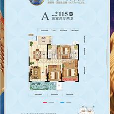 鑫龙·山水国际2号地块 A户型户型图
