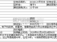 武穴市自然状态和规划局国有土地使用权挂牌出让公告(武土挂字【2020】003号)