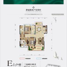 书香尚城E1户型户型图
