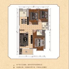 锦上城二期1#楼c-3户型户型图