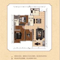 锦上城二期1#楼C-2户型户型图