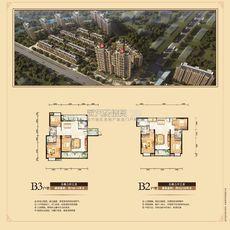 东磁·新城国际花园五期弘府 ab栋 b3户型+b2户型户型图