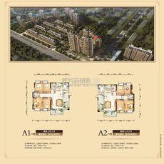 东磁·新城国际花园五期弘府 C栋a1户型+a2户型户型图