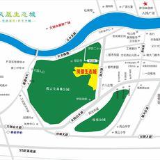 凤凰生态城区位图