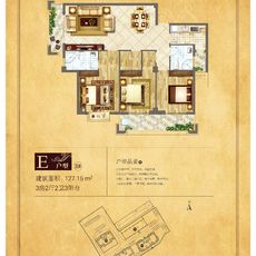 天泽·富贵家园E户型户型图